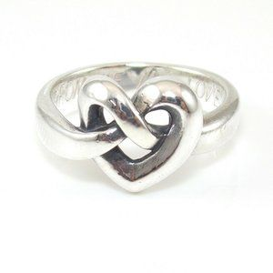 James Avery Sterling Heart Knot Ring Size 6.25